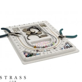 Design board for stringing beads and designing necklaces, 23.0cm x 33.0cm