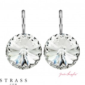 "Pierced Earrings ""Arrondi"" Crystal, with original Swarovski Crystals (14.00mm)"