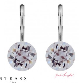 "Pierced Earrings ""Klassik"" Smoky Mauve, with original Swarovski Crystals (9.00mm)"