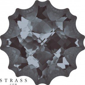 Swarovski Crystals 4195 Crystal (001) Silver Night (SINI)