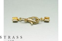 Endkappen mit Karabinerverschluss, gold (3.0mm), 1 Stück