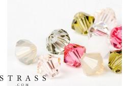 Glasperlen zum Auffädeln Swarovski Kristalle Doppelkegel 4mm (Avant Garde Mix) 96 Stück
