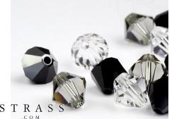 Glasperlen zum Auffädeln Swarovski Kristalle Doppelkegel 4mm (Star Night Mix) 96 Stück