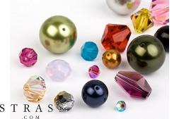 Glasperlen zum Auffädeln Swarovski Kristalle (Multi Form Mix) 48 Stück