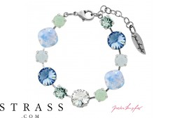 "Armband ""Primavera"" Pastell Mix Sapphire, made with Swarovski Crystals"