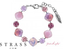 "Armband ""Primavera"" Pastell Mix Rosa, made with Swarovski Crystals"