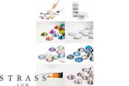 Fingernagel Design Set   Nail Art Set mit Swarovski Kristallen (STRASSSET21)