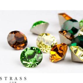 Chatons Swarovski Kristalle PP32 (Forest Mix) 100 Stück