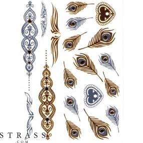 "Selbstklebende ""Metallic Shiny"" Körper Tattoos (PR7911-03031)"