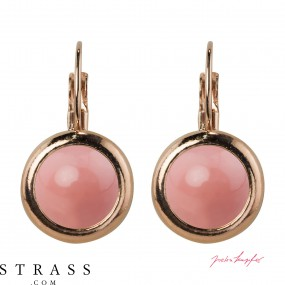 """Ohrhaken """"Rosi"""" Pink Coral Pearl, made with Swarovski Crystals"""