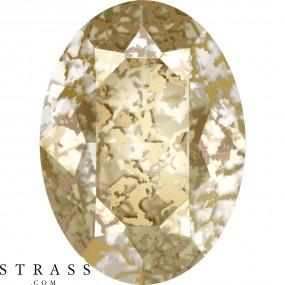 Swarovski Kristalle 4120 Crystal (001) Gold Patina (GOLPA)