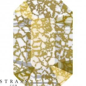Swarovski Kristalle 5514 Crystal (001) Gold Patina (GOLPA)