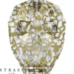 Swarovski Kristalle 5750 Crystal (001) Gold Patina (GOLPA)