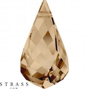 Swarovski Kristalle 6020 MM 18,0 CRYSTAL GOL.SHADOW (1134326)