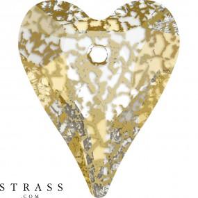 Swarovski Kristalle 6240 Crystal (001) Gold Patina (GOLPA)