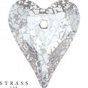 Swarovski Kristalle 6240 Crystal (001) Silver Patina (SILPA)