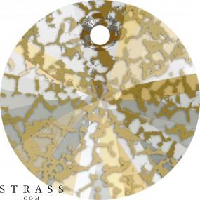 Swarovski Kristalle 6428 MM 6,0 CRYSTAL GOLD-PAT (5098111)