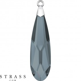 Swarovski Kristalle 6533 MM 23,0 CRYSTAL SILVNIGHT RHOD (5227647)