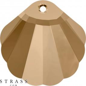 Swarovski Kristalle 6723 MM 16,0 CRYSTAL GOL.SHADOW (909677)