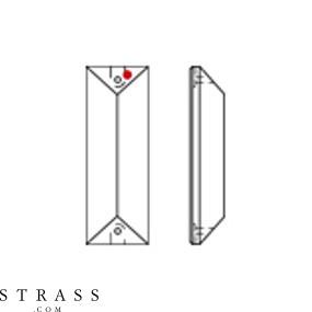 Swarovski Kristalle 8322 MM 76,0X 22,0 CRYSTAL GOLD. TEAK B (632888)