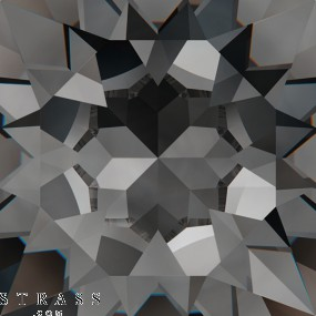 Swarovski Kristalle 2028 Crystal (001) Silver Night (SINI)