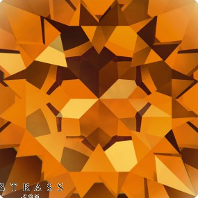 Swarovski Kristalle 6721 Topaz (203)