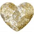 Swarovski Kristalle 2808 Crystal (001) Gold Patina (GOLPA)