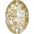 Swarovski Kristalle 3210 Crystal (001) Gold Patina (GOLPA)
