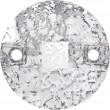 Swarovski Kristalle 3220 Crystal (001) Silver Patina (SILPA)