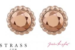 """Boucles d'Oreilles """"Sultan"""" Rosé Gold avec Cristaux originaux de Swarovski"""