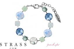 "Bracelet ""Primavera"" Pastell Mix Sapphire, avec Cristaux originaux de Swarovski"