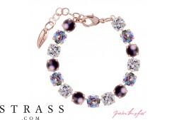 """Bracelet """"Rosi"""" Medium Paradise & Purple Mix , avec Cristaux originaux de Swarovski"""