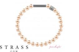 "Bracelet ""Bracelet en perles Mini"" Peach Pearl, avec Cristaux originaux de Swarovski"