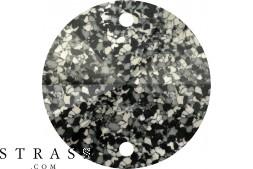 Cristaux de Swarovski 3200/B MM 12,0 MARBLED BLACK (1077611)