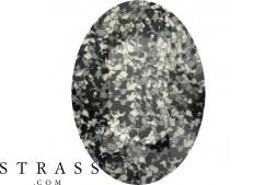 Cristaux de Swarovski 4120/B MM 14,0X 10,0 MARBLED BLACK (1077642)