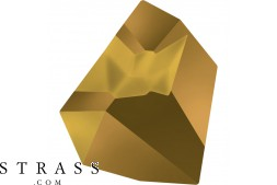 Cristaux de Swarovski 4923 Crystal (001) Dorado (DOR)