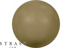 Cristaux de Swarovski 5810 MM 12,0 CRYSTAL ANTIQUE BRASS PEARL (940909)