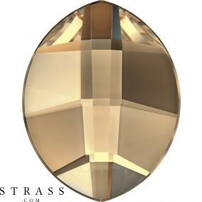 Cristaux de Swarovski 2204 Crystal (001) Golden Shadow (GSHA)