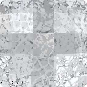 Cristaux de Swarovski 2493 MM 12,0 CRYSTAL SILVER-PAT M HF (5097973)