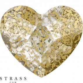 Cristaux de Swarovski 2808 Crystal (001) Gold Patina (GOLPA)