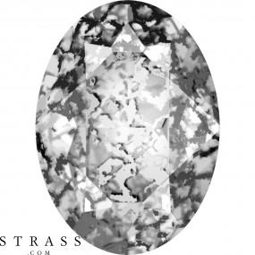 Cristaux de Swarovski 4120 Crystal (001) Black Patina (BLAPA)