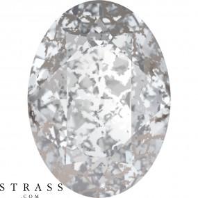 Cristaux de Swarovski 4120 Crystal (001) Silver Patina (SILPA)