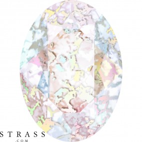 Cristaux de Swarovski 4120 Crystal (001) White Patina (WHIPA)