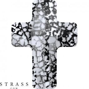 Cristaux de Swarovski 5378 Crystal (001) Black Patina (BLAPA)