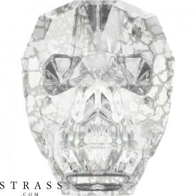 Cristaux de Swarovski 5750 Crystal (001) Silver Patina (SILPA)