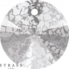 Cristaux de Swarovski 6428 Crystal (001) Silver Patina (SILPA)