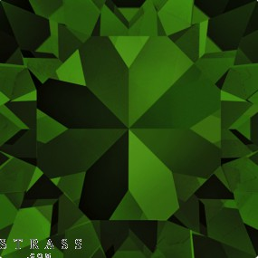 Cristaux de Swarovski 5535 Dark Moss Green (260)
