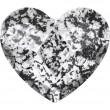 Cristaux de Swarovski 2808 Crystal (001) Black Patina (BLAPA)