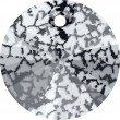 Cristaux de Swarovski 6428 Crystal (001) Black Patina (BLAPA)