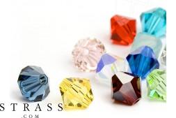 Perlas de Cristales de Swarovski doble cono 4mm (Colormix) 96 Piezas